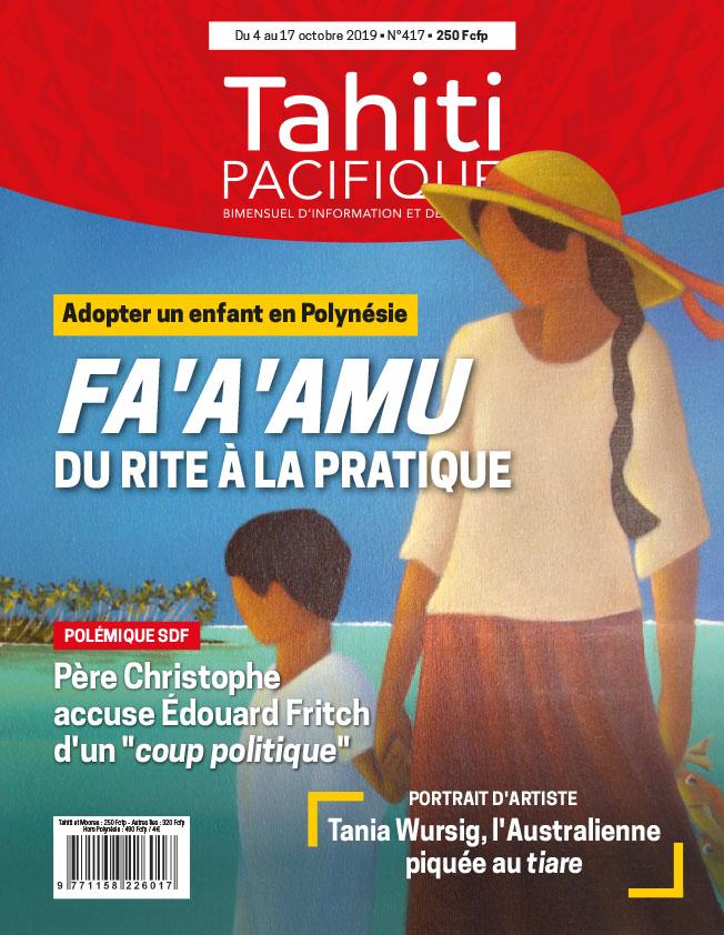À la Une de Tahiti Pacifique vendredi 4 octobre