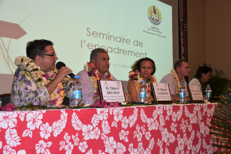 Le séminaire des personnels d'encadrement de l'Éducation s'est ouvert ce lundi matin au lycée hôtelier de Punaauia.