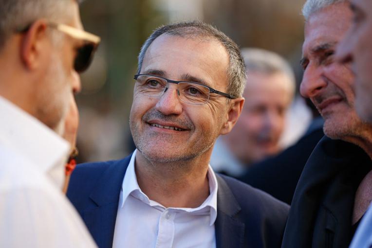 Jean-Guy Talamoni, membre du mouvement indépendantiste Corsica Libera.