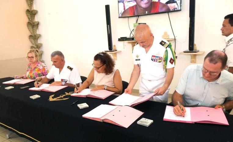 Une « classe de défense et de sécurité » au collège de Taaone
