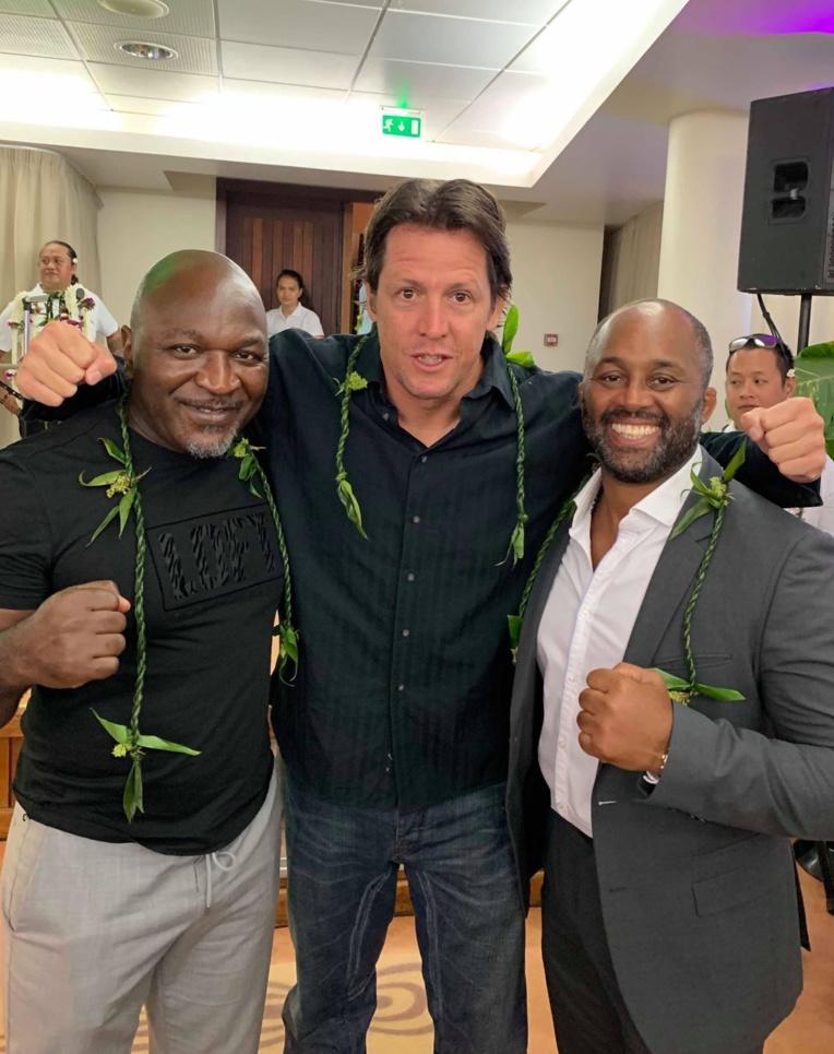 Bertrand Amoussou, David Proia et Kerrith Brown