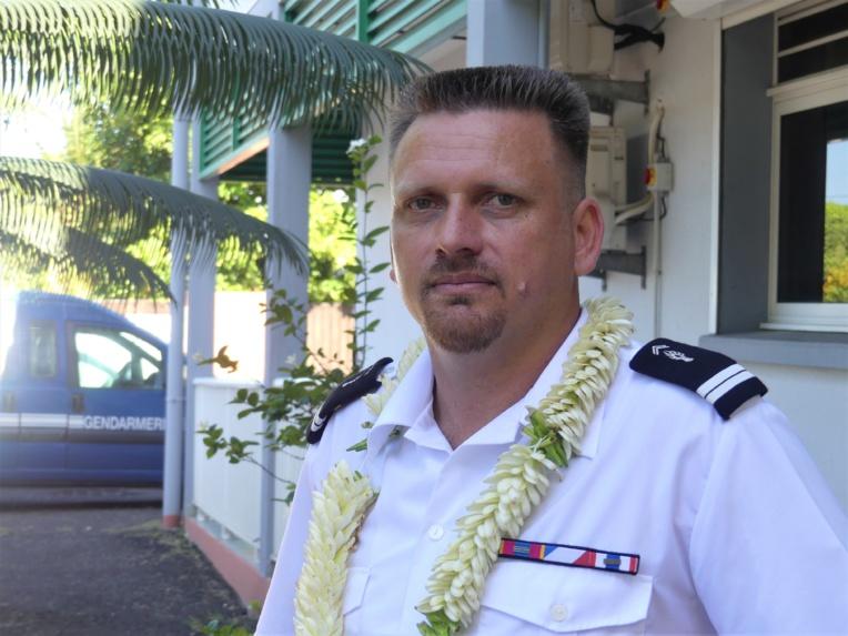 Depuis mercredi, Teva Moua est le nouveau commandant de la brigade de gendarmerie de Punaauia.