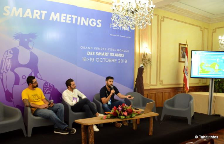 Maxime Lafont et Kevin Besson ont présenté leurs innovations, qui ont remporté le concours Tech4Islands.