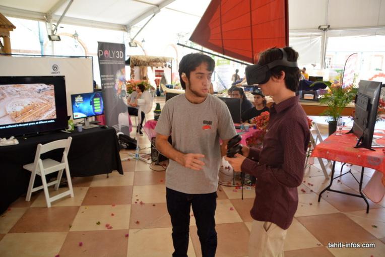 L'école du jeu vidéo Studio Poly 3D, avec son partenaire canadien Ubisoft, a connu un beau succès en présentant les jeux créés par les élèves et la réalité virtuelle.
