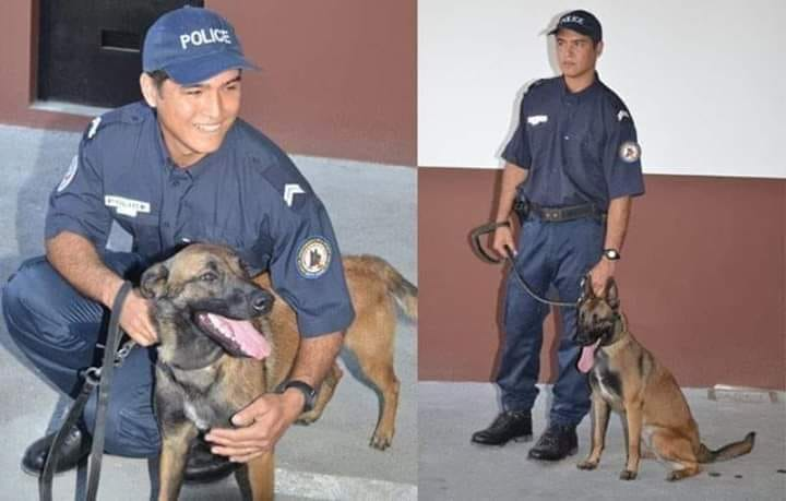 Loïc Ly Sao et sa chienne, Jipsy.