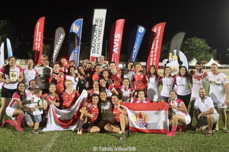 Le rugby féminin était également de la partie