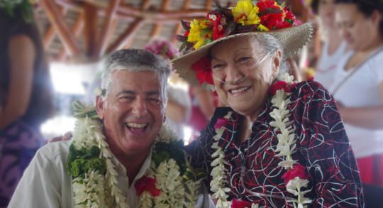 Loma Spitz et Jacques Raynal, lors des 20 ans de l'Apair, en 2017.