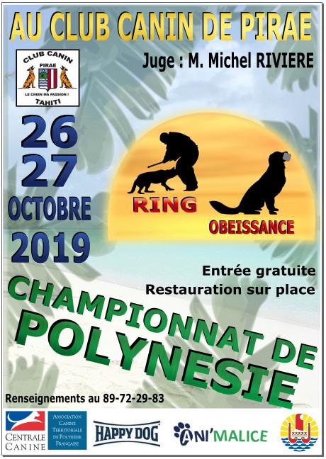 Un championnat de chiens de travail ce weekend à Pirae