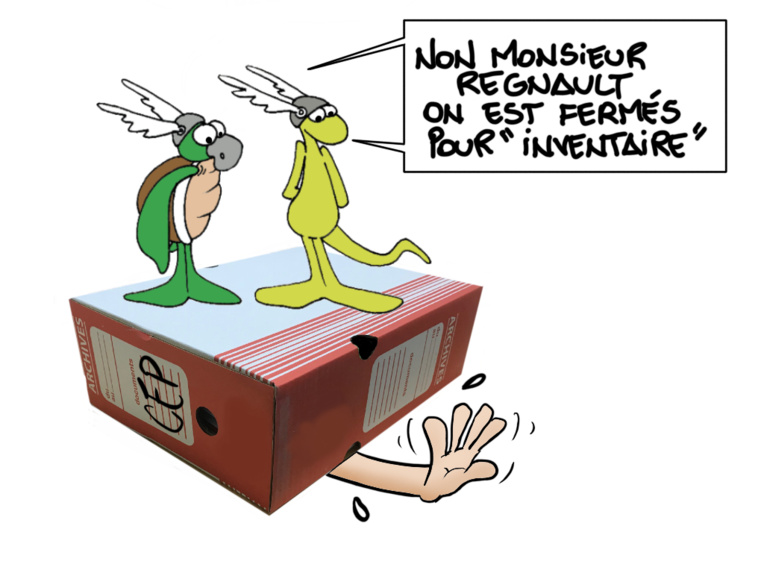 """""""Le poids des archives"""", par Munoz"""