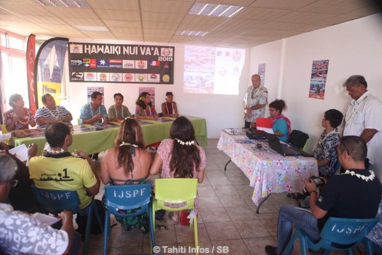 La 28ème édition d'Hawaiki NuiVa'a a été présentée mardi par le comité organisateur