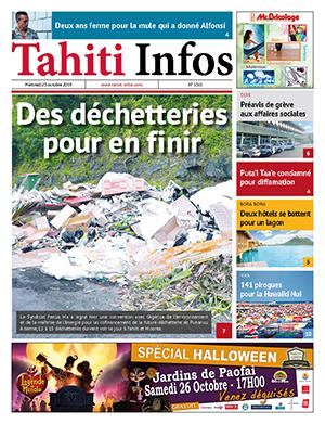 TAHITI INFOS N°1515 du 23 octobre 2019