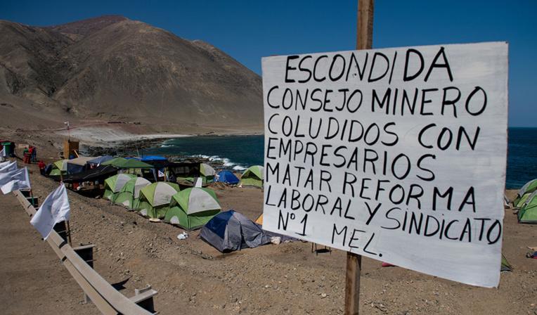 Chili: grève à la plus grande mine de cuivre au monde, en soutien à la contestation