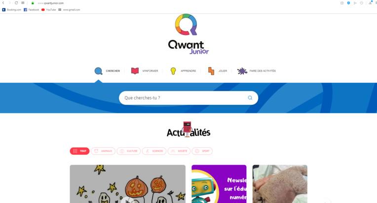 """Page enfant : """"Qwant Junior"""", le moteur de recherche rien que pour les enfants"""