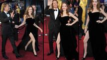 Oscars: la jambe dénudée d'Angelina Jolie a maintenant son compte Twitter