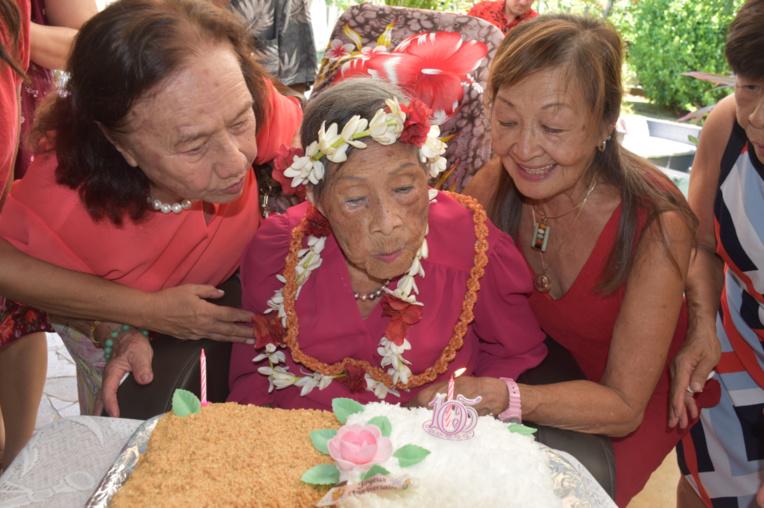 Cinq générations pour fêter les 105 ans de Marthe Suard