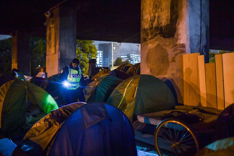 La moitié des campements de migrants vidés dans le nord-est de Paris