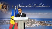 Nicolas Sarkozy lors de sa dernière visite en Nouvelle Calédonie