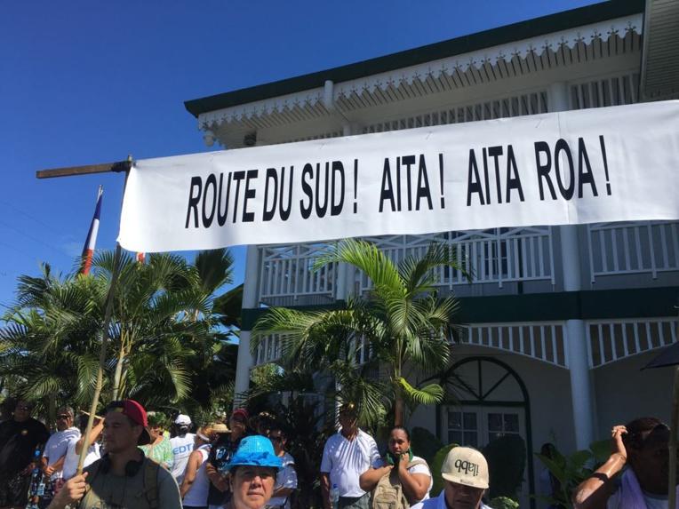 Nouvelle mobilisation contre la Route du Sud