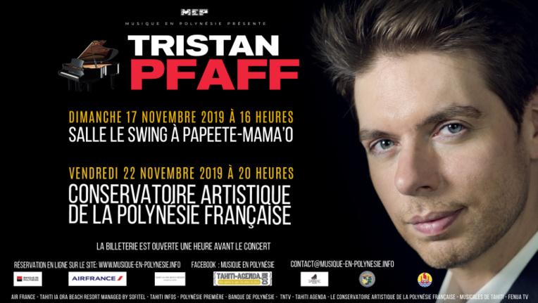 Tristan Pfaff, pianiste renommé, vient pour 2 concerts à Tahiti