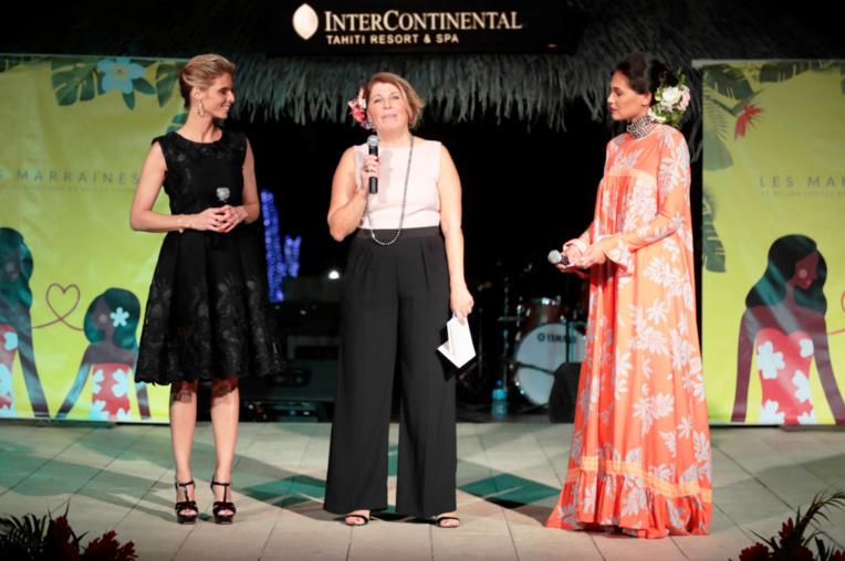 Sylvie Tellier, Christine Brovelli et Vaimalama Chaves.