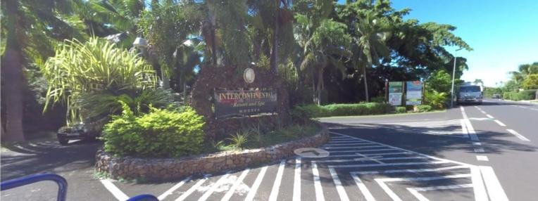 Selon la direction de l'InterContinental Moorea une quarantaine de salariés suivent le mouvement de grève initié mercredi par la confédération O Oe To Oe Rima. (photo : Tahiti 360)