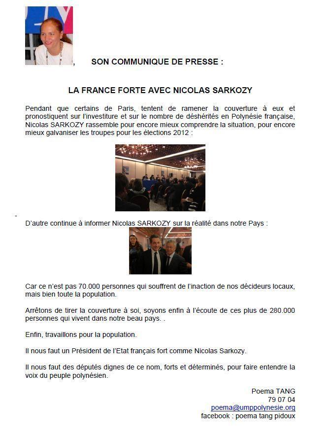 Poema Tang : La France Forte avec Nicolas Sarkozy