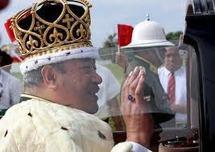 Annonce officielle de la mort du roi du Tonga