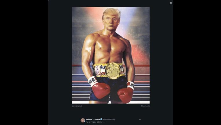 Trump se présente en Rocky, torse nu, sur Twitter