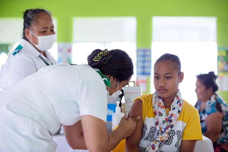 Samoa: drapeau rouge devant le domicile d'habitants non vaccinés contre la rougeole