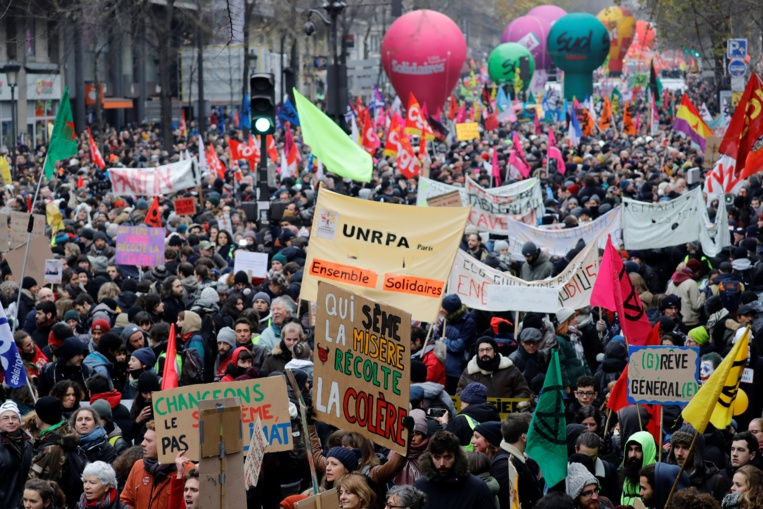 Retraites : entre 800 000 et 1,5 million de manifestants en France