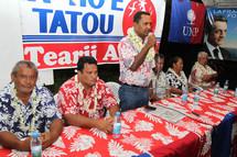 Tearii Alpha appelle à la mobilisation derrière Nicolas Sarkozy