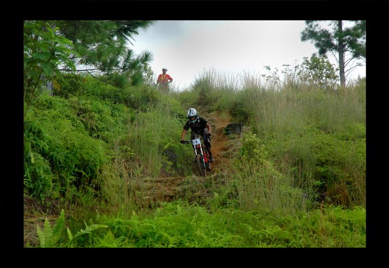 Sports extrêmes à Hitiaa : Compétition de VTT de descente, le « downhill »