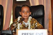 Le discours de Heremoana, 10 ans, président Junior du CESC