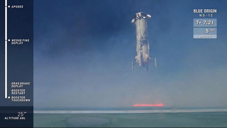 Nouveau test de la fusée de tourisme spatial de Blue Origin