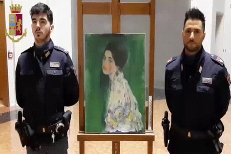 Italie: un tableau volé sans doute peint par Klimt retrouvé par hasard 20 ans après