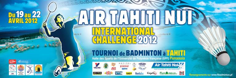 Badminton: le tournoi international Air Tahiti Nui Challenge 2012 commence aujourd'hui