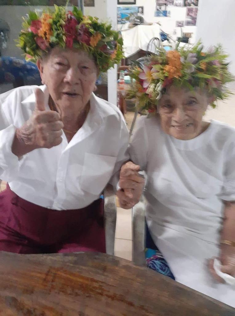 Ils fêtent leurs 74 ans de mariage à Paea