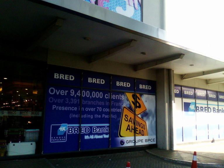 La banque BRED s'affiche au cœur de Suva