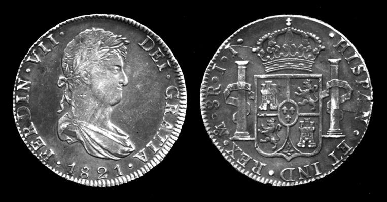 Ce sont des pièces de monnaie de ce type qui permirent à Franck Jardine de finir sa vie dans le luxe, puisqu'il tira des milliers de livres sterling du trésor qu'il trouva.