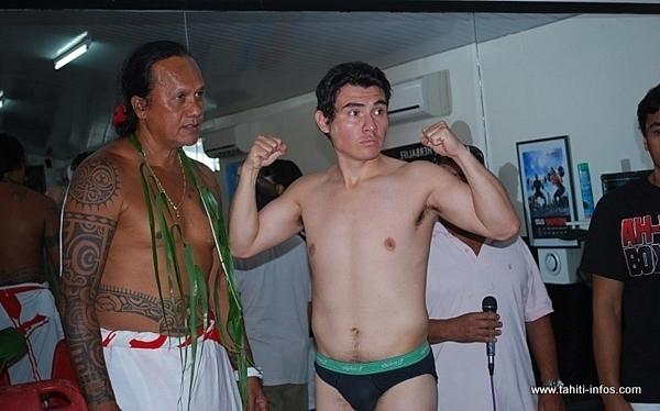 Rodriguez Gomez lors de la séance de pesée