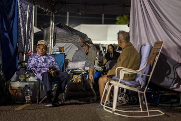 Sous des tentes, des milliers de Portoricains dans l'attente d'aide après une série de séismes