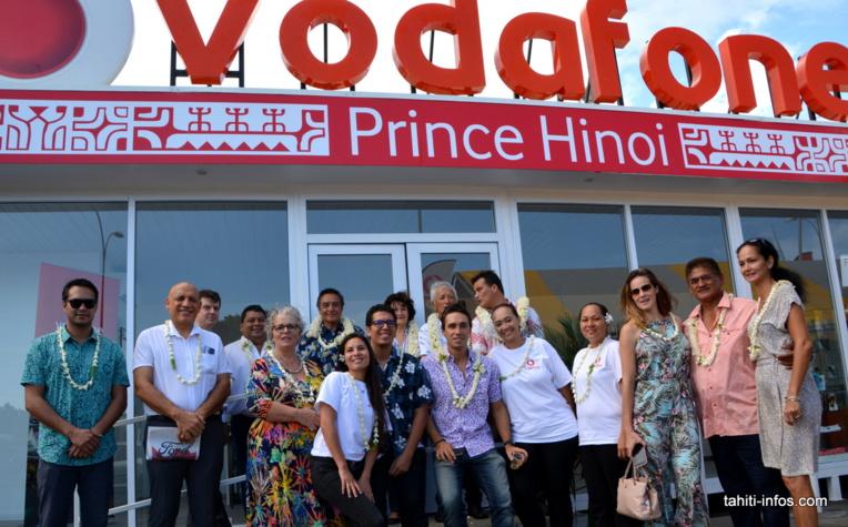 La nouvelle boutique Vodafone du Prince Hīnoia été inaugurée ce vendredi 17 janvier.