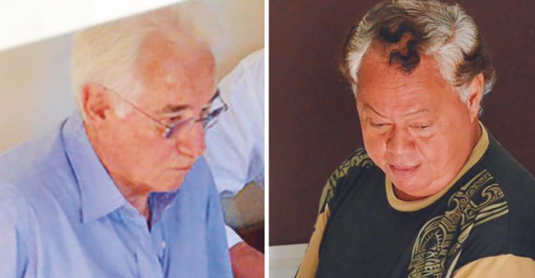Bill Ravel et CyrilLe Gayic lors de leur mise en examen en 2012.