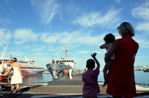 Le patrouilleur La Tapageuse quitte définitivement la Polynésie