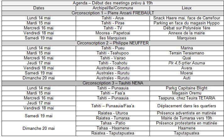 UPLD: Programme des tournées de la première semaine  des législatives 2012 UPLD du 14 au 20 mai