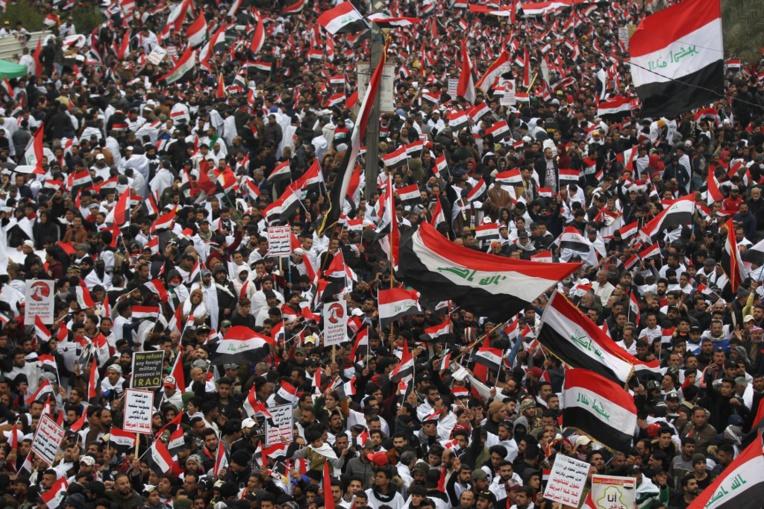 A Bagdad, des milliers de manifestants réclament le départ des troupes américaines