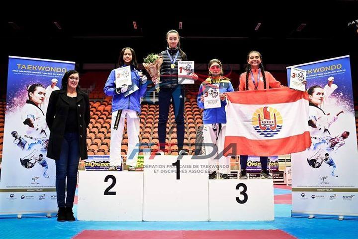 Hanaley Tetaahi en bronze aux championnats de France espoir de taekwondo