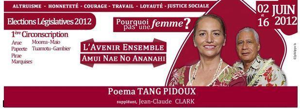 Profession de foi de Poema Tang en français et en tahitien