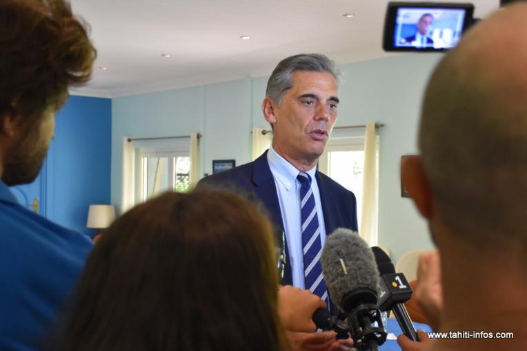 Le haut-commissaire Dominique Sorain, mardi lors de la présentation du bilan 2019 des chiffres de la délinquance en Polynésie française.