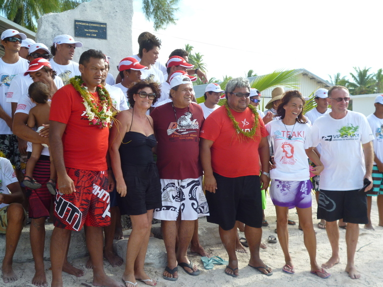 Rangiroa Channel Race2012: Shell Va'A remporte la 3ème édition devant Team OPT et Matairea Hoe